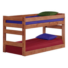 Twin Over Twin Jr. Bunk Bed, Mahogany Stain