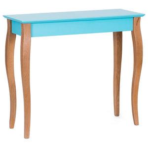 Lilo Medium Scandinavian Console Table, Dark Turquoise