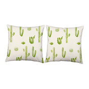 Cacti Desert Cactus Throw Pillows, Indoor Covers and Cushions