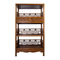Consigned Vintage, Chinese Hand Carved Book Shelf/Display Cabinet