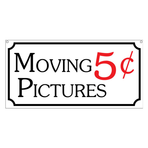 Moving Pictures, Aluminum TV Movie Prop Sign, 6