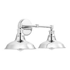 Olivera 2-Light Wall Sconce, Chrome