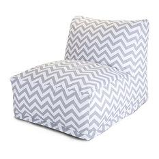 Outdoor Gray Chevron Bean Bag Chair Lounger