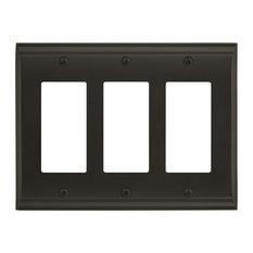 Candler 3 Rocker Black Bronze Wall Plate
