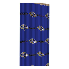 NFL Ravens Shower Curtain Football Logo Bath Accessory