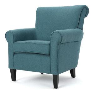 Hercules Arkley Series Black Fabric Tufted Arm Chair