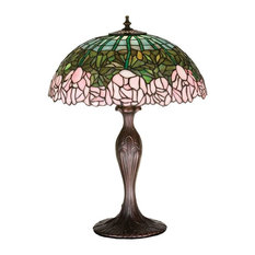 "21 5""H Cabbage Rose Table Lamp"