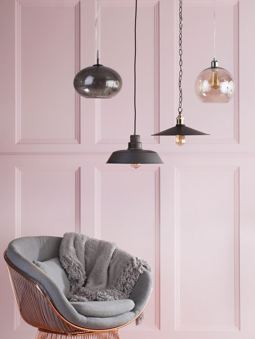Rose quartz interiors pendant lighting