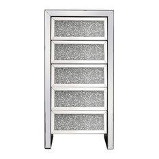 Elegant MF92015 23.5 Inch Crystal Cabinet Silver Royal Cut Crystal