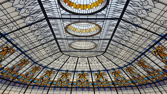 Stained Glass Skylight Dome