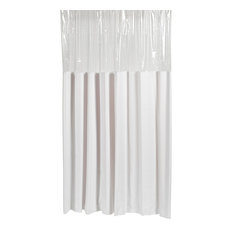 """Shower Stall-Sized """"Window"""" Shower Curtain in White"""