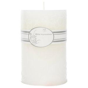 White Pillar Candle, Medium