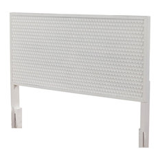 Origins By Alpine White Pearl California King Wood Headboard In White