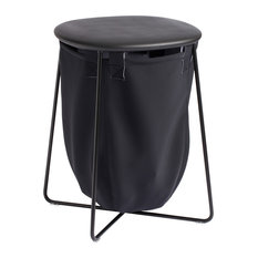 Viood Laundry Basket With Seat, Black