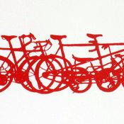 Bike Stack Mini Art Print