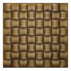 "20""x20"" Styrofoam Glue Up Ceiling Tiles R35W Antique Style Gold"