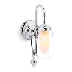 """Kohler K-72581 Artifacts 1 Light 4-1/8""""W Bathroom Sconce - Chrome"""