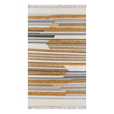 "Novogratz by Momeni Indio Hand Made Wool Area Rug, Mustard, 7'6""x9'6"""