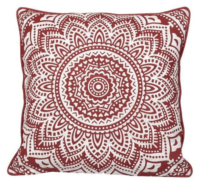 Starburst Medallion Brick Feather Filled Decorative Throw Pillow Impressive Starburst Decorative Pillow