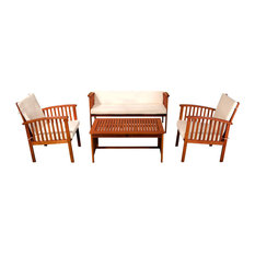 GDF Studio 4-Piece Beckley Outdoor Seating Set