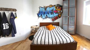 Alexandre - Custom graffiti mural