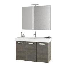 Charming ACF   40 Inch Grey Oak Bathroom Vanity Set   Bathroom Vanities And Sink  Consoles