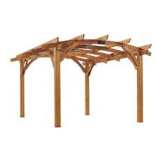 Outdoor Greatroom 12'x16' Redwood Sonoma Wood Pergola Kit