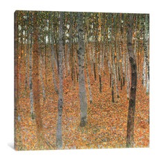 """Forest of Beech Trees"" by Gustav Klimt, 37x37x0.75"""