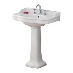 "Cheviot Products Antique Pedestal Sink, 22.5"", Single Hole"
