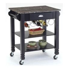 Bernards   Kitchen Cart, Black Finish   Kitchen Islands And Kitchen Carts