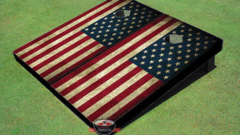 American Flag Themed Cornhole Boards