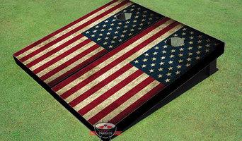American Flag Themed Cornhole Boards