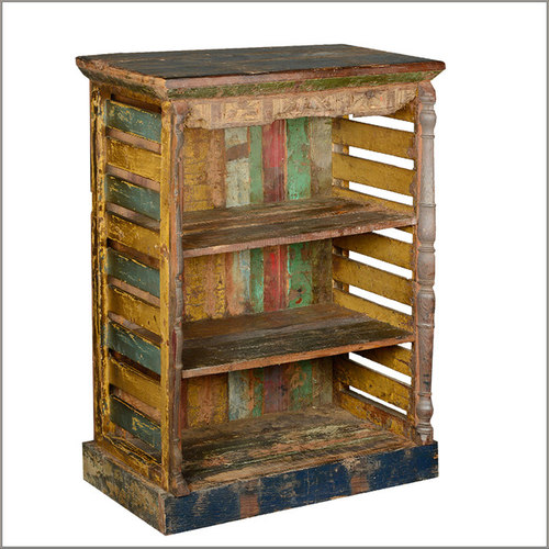 Rustic Art Multi Color Reclaimed Wood Book Shelf - Nightstands And Bedside  Tables - Wooden Bookcase & Bookshelves