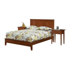 Betr Amish Furniture - Queen Carterett Cherry Bed With Low Footboard, Natural Cherry - Panel Beds
