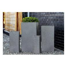 "Modern Square Concrete Outdoor/Indoor Planter, 28""x13"""
