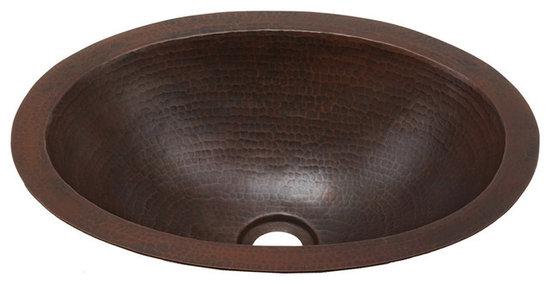 hammermarc hammered copper oval bath sink bo15 bathroom sinks