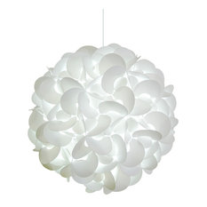 Deluxe Rounds Pendant Light Fixture, LED Bulb, Cool White Glow