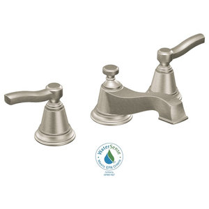 Moen Rothbury 2-Handle Low Arc Bathroom Faucet, Brushed Nickel