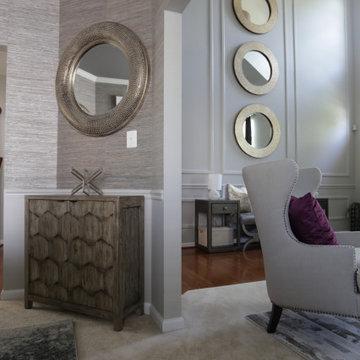 Cream Inspired Foyer, Dining, & Living Room