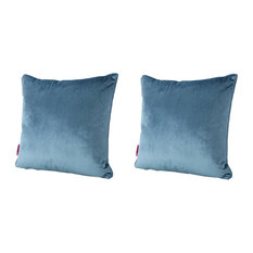 GDF Studio Velvin New Velvet Throw Pillow, Aqua, Set of 2