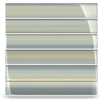 "Beach Glass Subway Tile, 2""x12"" Tiles, Set of 30"