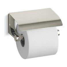 Kohler Loure Covered Horizontal Toilet Tissue Holder, Vibrant Polished Nickel