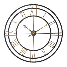 Lehman Wrought Iron Gallery Wall Clock