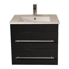 Emotion Milet Bathroom Furniture, 60.5 cm, Grained Anthracite