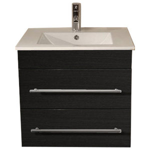 Emotion Milet Bathroom Furniture, 60.5 cm, Grained Anthracite
