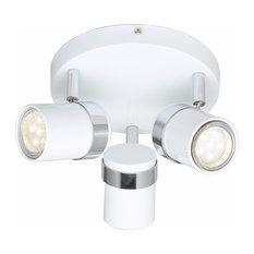 Modern 3-Way GU10 Round Ceiling Spotlight Light Fixtures LED, White