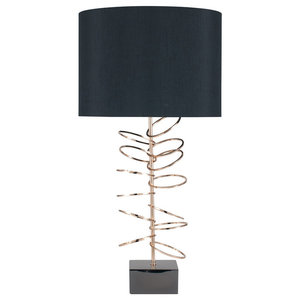 Hula Table Lamp, Gold Finish