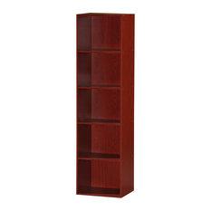 5-Shelf Bookcase, Mahogany