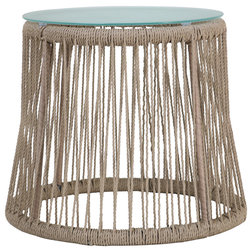 Beach Style Outdoor Side Tables by GDFStudio