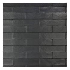 """SomerTile Chester Ceramic Wall Tile, 3""""x12"""", Matte Black"""